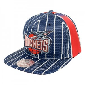 """Houston Rockets Hardwood Classics Jersey Hook Up Mesh Crown Snapback C"""