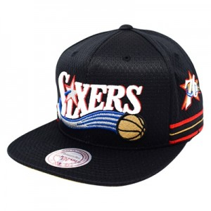 """Philadelphia 76ers Hardwood Classics Jersey Hook Up Mesh Crown Snapbac"""