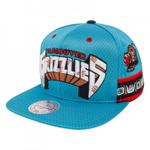 """Vancouver Grizzlies Hardwood Classics Jersey Hook Up Mesh Crown Snapba"""