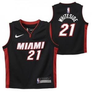 """Miami Heat Nike Icon Replica Jersey – Hassan Whiteside – Kids"""