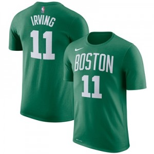 """Boston Celtics Nike Kyrie Irving Name & Number T-Shirt – Clover – Mens"""