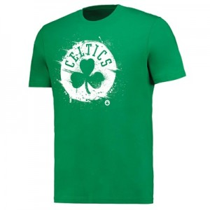 """Boston Celtics Splatter Team Logo Core T-Shirt – Bright Kelly  – Mens"""