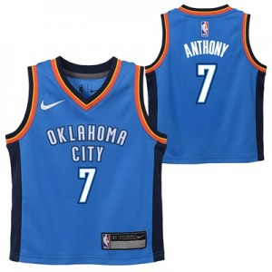 """Oklahoma City Thunder Nike Icon Replica Jersey – Carmelo Anthony – Tod"""