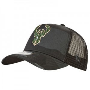 """Milwaukee Bucks Camo Trucker Cap"""