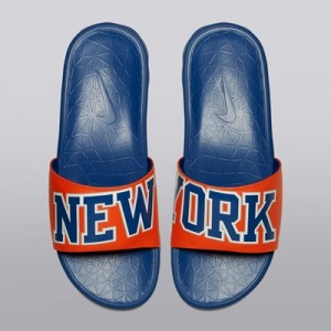 """New York Knicks Nike Benassi Solarsoft Sliders – Brilliant Orange/Rush"""