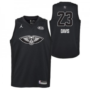 """NBA All-Star 2018 Jordan Black Swingman Jersey – Anthony Davis – Youth"""