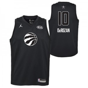 """NBA All-Star 2018 Jordan Black Swingman Jersey – Demar DeRozan – Youth"""