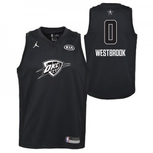 """NBA All-Star 2018 Jordan Black Swingman Jersey – Russell Westbrook – Y"""