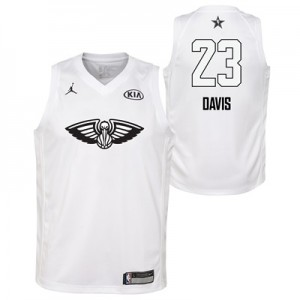 """NBA All-Star 2018 Jordan White Swingman Jersey – Anthony Davis – Youth"""