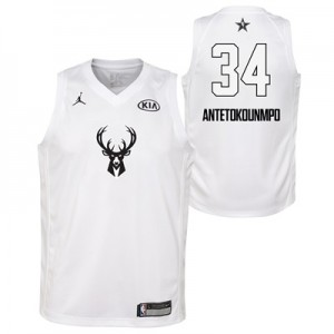 """NBA All-Star 2018 Jordan White Swingman Jersey – Giannis Antetokounmpo"""