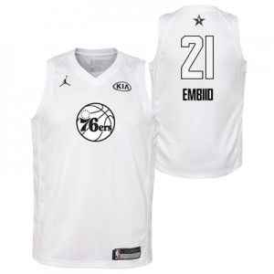 """NBA All-Star 2018 Jordan White Swingman Jersey – Joel Embiid – Youth"""