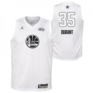 """NBA All-Star 2018 Jordan White Swingman Jersey – Kevin Durant – Youth"""