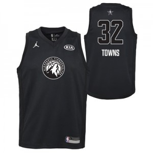 """NBA All-Star 2018 Jordan Black Swingman Jersey – Karl-Anthony Towns – """