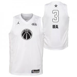 """NBA All-Star 2018 Jordan White Swingman Jersey – Bradley Beal – Youth"""