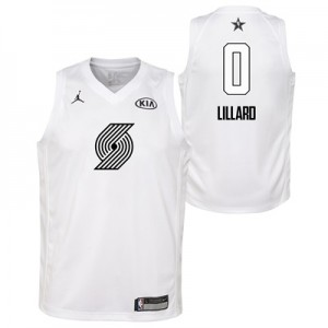 """NBA All-Star 2018 Jordan White Swingman Jersey – Damian Lillard  – You"""