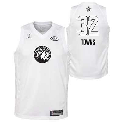 """NBA All-Star 2018 Jordan White Swingman Jersey – Karl-Anthony Towns – """
