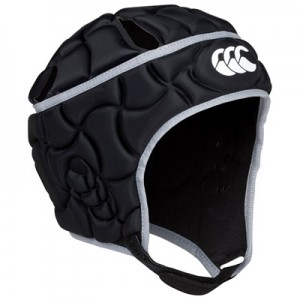"""Canterbury Club Plus Headguard – Black/Silver – Kids"""