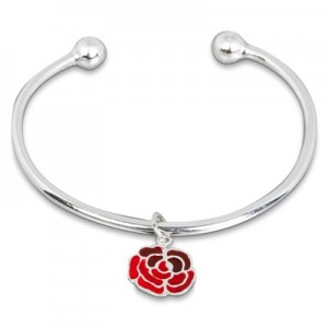 """England Torque Bangle with Charm (72mm)"""