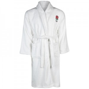 """England Bath Robe – Boys- White"""