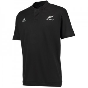 """All Blacks Rugby Anthem Short Sleeve Polo Black"""