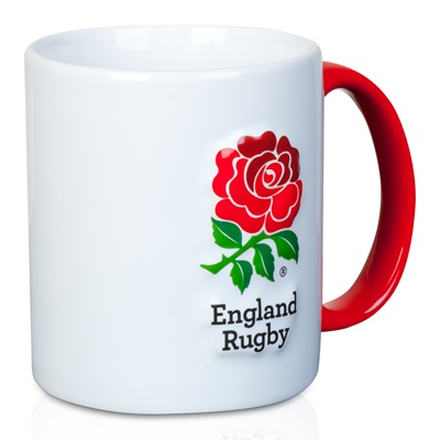 """England 3D Rose Mug – White"""
