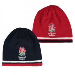 """England Reversible Beanie – Navy/Red – Junior"""