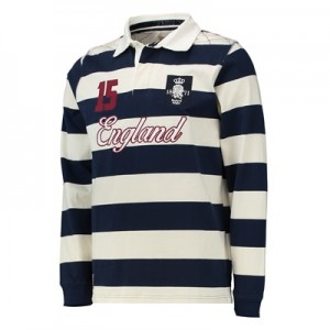 """England Authentics 1871 Rugby Shirt – Navy/White"""