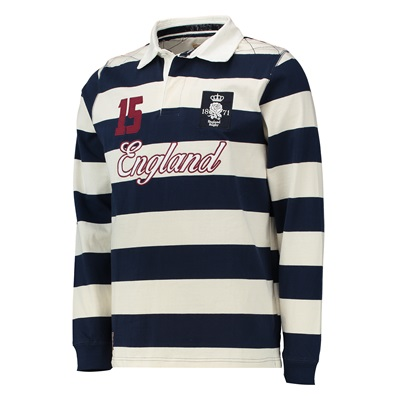 """""""England Authentics 1871 Rugby Shirt – Navy/White"""""""