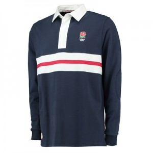 """England Classics Stripe Rugby Shirt – Navy"""