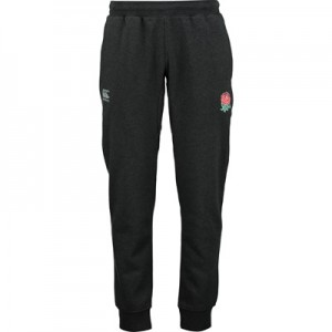"""England Rugby Tapered Fleece Pants – Black Marl"""
