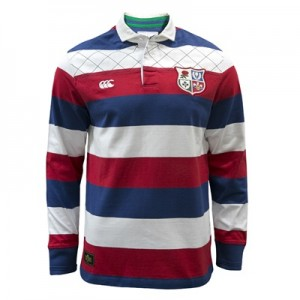 """British & Irish Lions 1888 Wide Stripe Rugby Jersey – Faded Navy"""