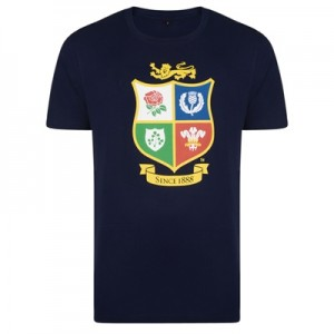 """British & Irish Lions NZ 2017 T-Shirt – Navy"""