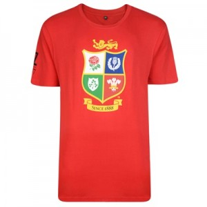 """British & Irish Lions NZ 2017 T-Shirt – British Lions Red"""
