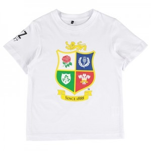 """British & Irish Lions NZ 2017 T-Shirt – White – Junior"""