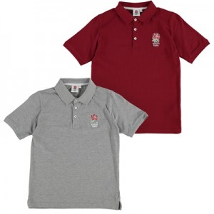 """England Polo Shirt – 2 Pack – Red/Grey – Junior"""