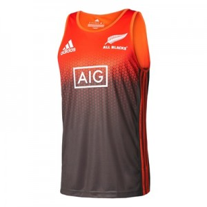 """All Blacks Singlet – Solar Red/Energy/White"""