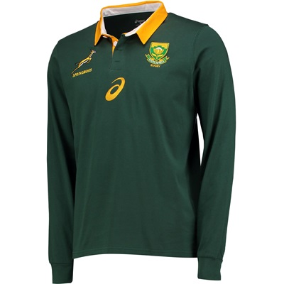 """South Africa Home Classic Shirt 17-18 – Long Sleeve – Green"""