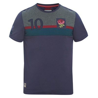 """England Rugby Since 1871 Colour Blocked T-Shirt – Graphite"""