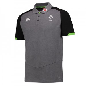 """Ireland Rugby Vapodri Cotton Pique Polo – Asphalt Marl"""