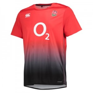 """England Rugby Vapodri+ Poly Graphic T-Shirt – Fiery Red"""