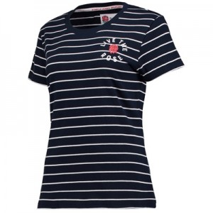 """England Classics Live The Rose T-Shirt – Navy – Womens"""