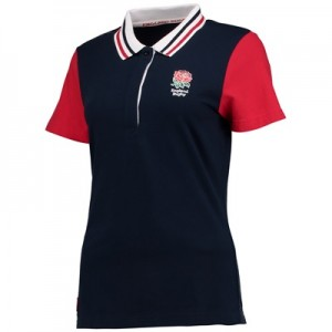 """England Classics Rose Polo – Navy/Red – Womens"""