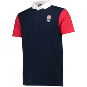 England Classics Live The Rose Polo Shirt - Navy/Red/White