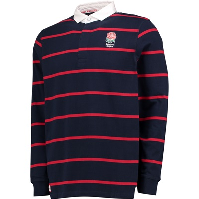 """""""England Classics Live The Rose Stripe Rugby – Navy/Red/White"""""""