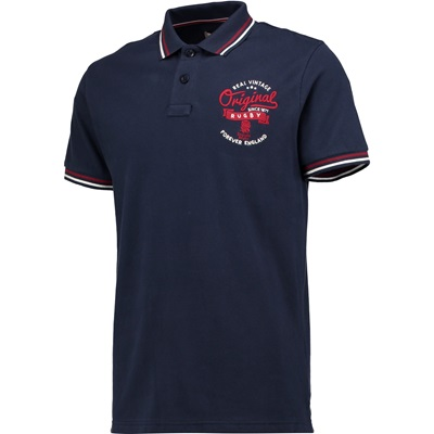 """England Authentics Real Vintage Polo – Navy"""