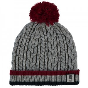 """England Stripe Cable Beanie"""