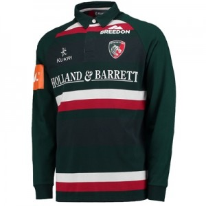 """Leicester Tigers Home Classic Jersey Long Sleeve 2017/18"""