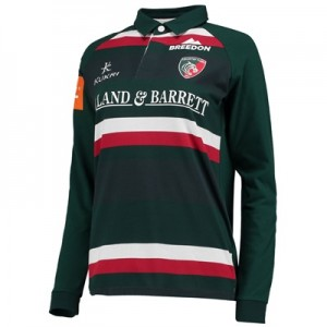 """Leicester Tigers Home Classic Jersey Long Sleeve 2017/18 – Womens"""