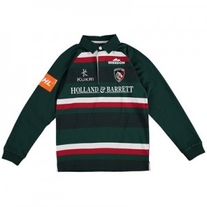 """Leicester Tigers Home Classic Jersey Long Sleeve 2017/18 – Junior"""