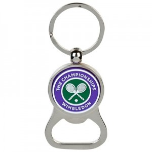 Wimbledon Bottle Opener Keyring Purple